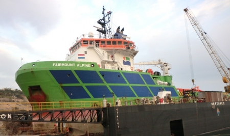 Dry-Docking of M/V FAIRMOUNT ALPINE