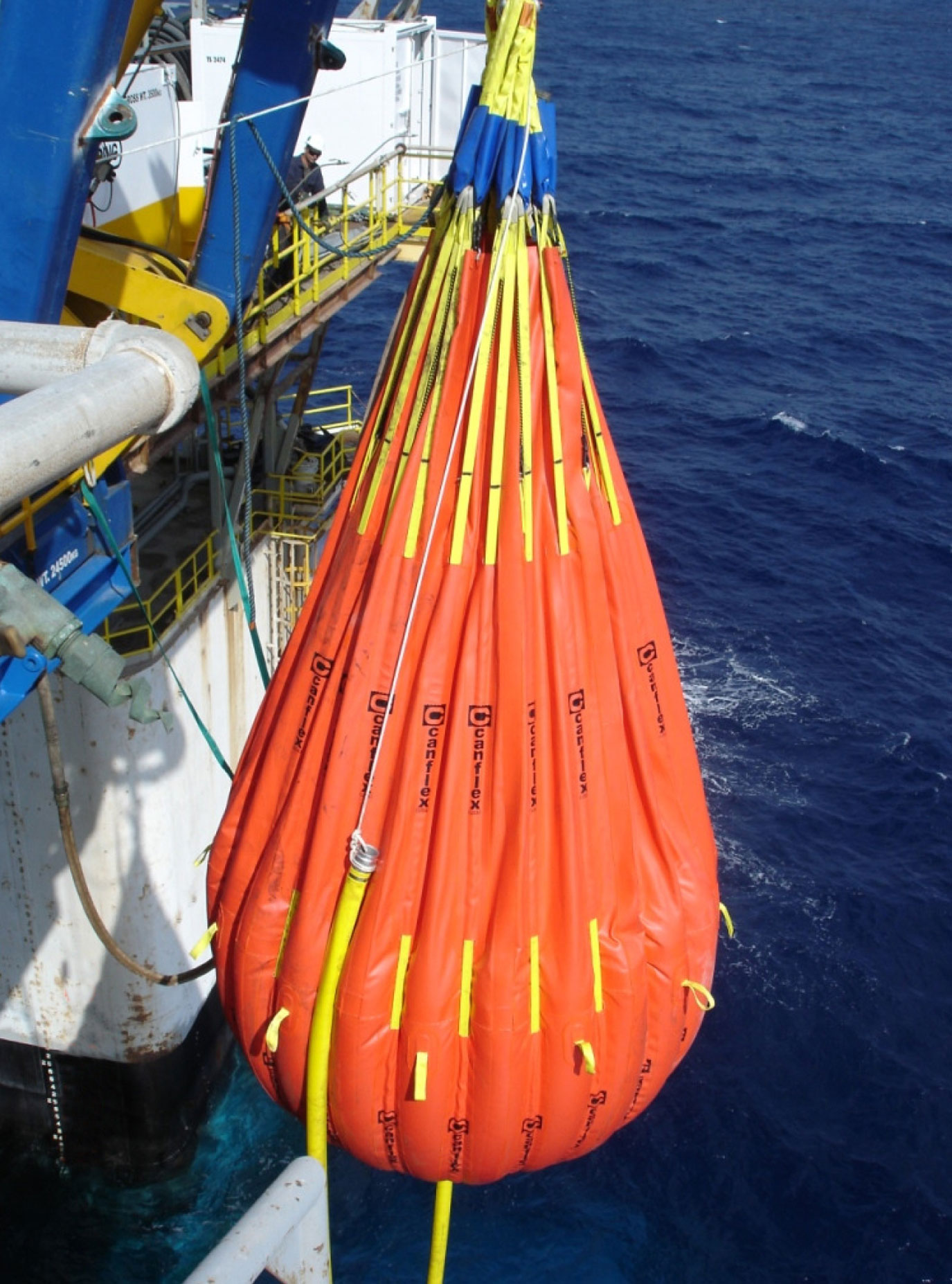Sea Water Pumped in the Water Bag to Achieve the Desired Proof Test Load 13,000 Kg
